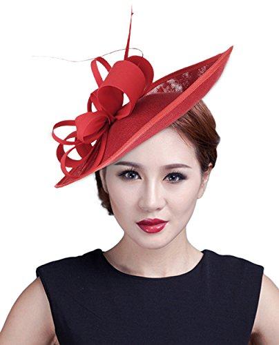 EOZY Damen Mini Hut Fascinator Hut Haarschmuck Hut (Frauen Tanzabend Für Kostüme)