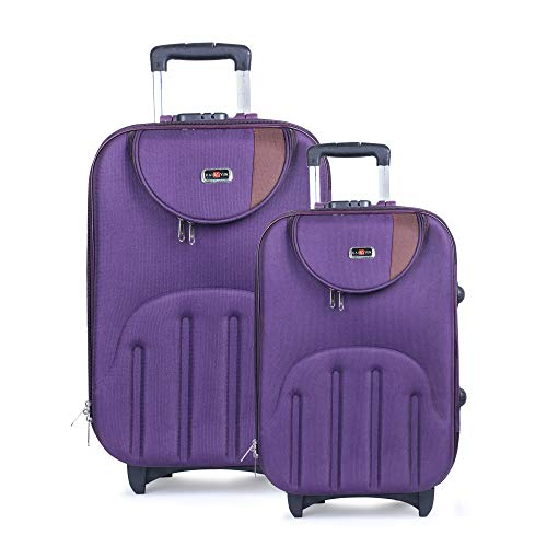 STALIN Polyester Luggage Combo Set of 2 Purple Trolley Bag...