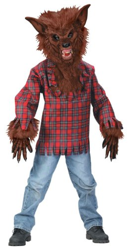 Werwolf Kinderkostüm braun - (Deluxe Kostüme Kind Werwolf)