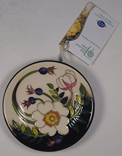A Moorcroft Rhs Scotch Rose 780/4 Pin Tray Coaster 1st Nicola Slaney