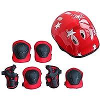 7 UNIDS/Set Universal Niños Niños Conjunto de Equipo de Protección Scooter Cómodo Scooter Skate Roller Ciclismo Almohadillas de Rodillas Elbow Pads Set