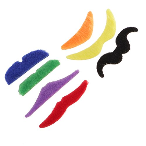 Anbau 7Pcs Joke Fake Mustache Self Adhesive Halloween Christmas Costume Cosplay Party Fancy Dress Moustache Beard Funny Events Festivals Party Supplies