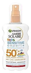 Garnier Ambre Solaire Kids Sensitive Expert + Spray SPF 50 +, Kids Sunscreen, Waterproof Sunscreen, 200 ml