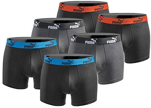 PUMA Boxershort 6er Pack Herren Basic Black Limited Edition - Action Black - Gr. L -