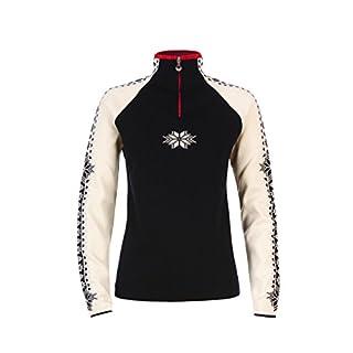 Dale of Norway Women's Geilo Sweater, Navy/Off White/Raspberry, Medium