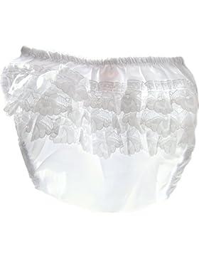 Baby Höschen Rüschenhöschen Frilly Pants 56 62 68 74 Weiß Spitzenhöschen