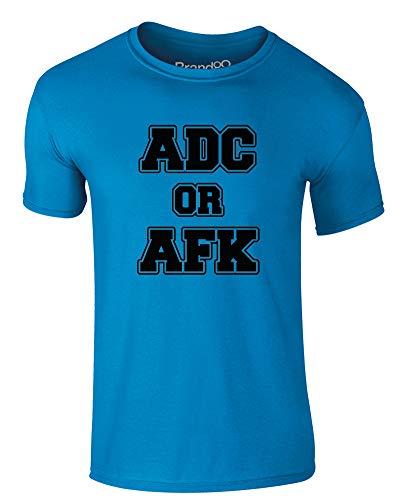 ADC Or AFK, Erwachsene Gedrucktes T-Shirt - Azurblau/Schwarz XL = 111-116cm -