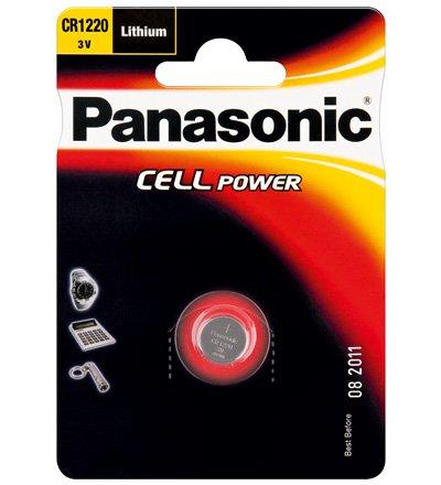 Panasonic Pila a bottone al litio, 3 V, CR 1220 P, 1 pezzo