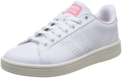 reputable site 68e7d 6ceb4 adidas Damen Cloudfoam Advantage Clean Sneakers Weiß Footwear Whiteray Pink,  40 EU