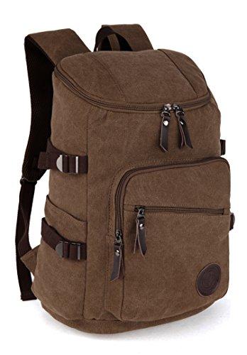 15,6 Zoll Canvas Notebooktasche Laptop-Tasche Rücksack Passend für bis zu 15,6 Gaming Laptops für Dell, Asus, MSI Gaming Rücksack Bergsteigen Tasche gemütlich und große Kapazität