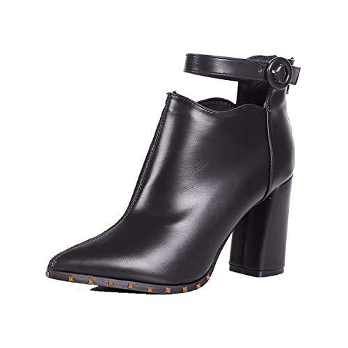 HBDLH Damenschuhe/Im Winter Schön Kurz 9Cm Stiefel High Heels Dicke Schuhe Medium und Verwies Einen Baumwolle Stiefel Ma Dingxue 37 Zucker Farbe - Zucker Damen Stiefel