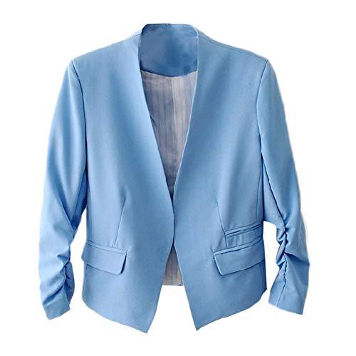 TWBB Damen OL Stil Kleiner Anzug,Blazer Pullover Mantel Einfarbig Kurz Passen