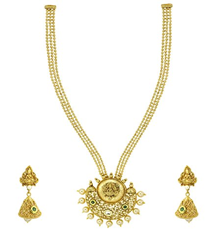 Zaveri Pearls Sculpture Style Necklace Set For Women - ZPFK4919