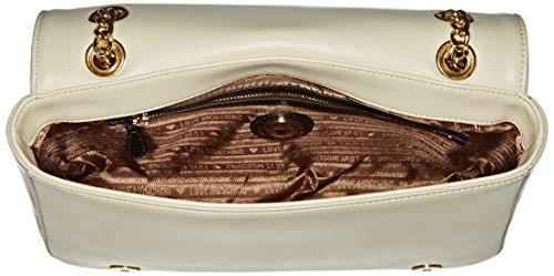 Love Moschino JC4036, Borse a Tracolla Donna, 7x18x29 cm (B x H x T) Bianco (ivory)