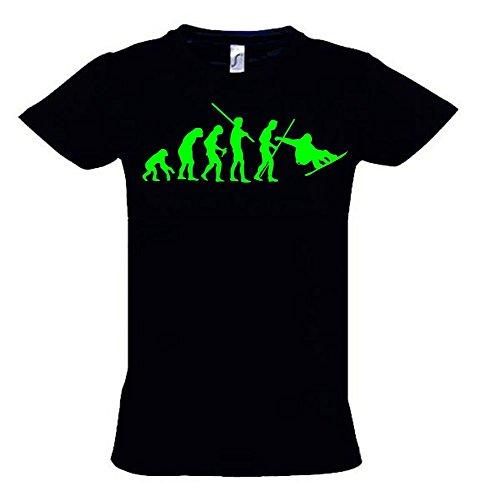 SNOWBOARD Evolution Kinder T-Shirt schwarz-green, Gr.152cm -