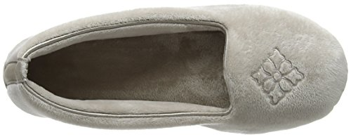 Dearfoams Closed Back, Chaussons Mules Femme Silver (Pewter)