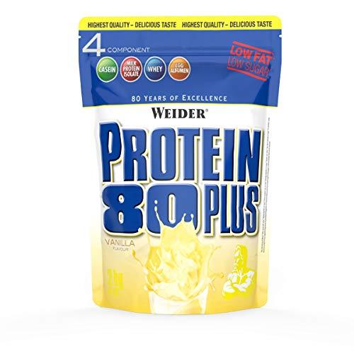 Vanille Haferflocken (WEIDER Protein 80 Plus Eiweißpulver, Vanille, Low-Carb, Mehrkomponenten Casein Whey Mix für Proteinshakes, 2kg)