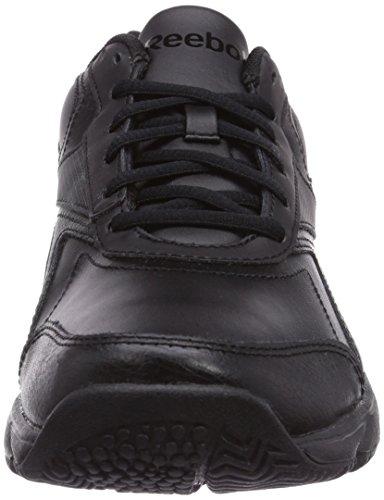 Reebok Work N Cushion, Unisex-Erwachsene Walkingschuhe Schwarz (Black)