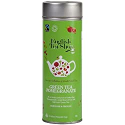 English Tea Shop - Grüner Tee Granatapfel, BIO Fairtrade, 15 Pyramiden-Beutel in Dose
