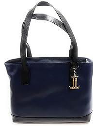 73a658de79973 Luca Lorenzo Damentasche - Henkeltasche Women Bag - Echtleder Tasche -  Blau- Art. 352309