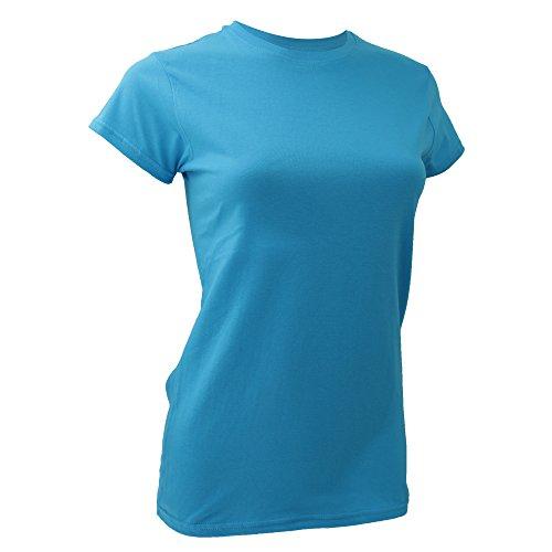 Anvil Damen T-Shirt Fashion Tee Hellblau