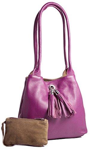 Big Handbag Shop, Borsa a mano donna One Rosa (rosa)