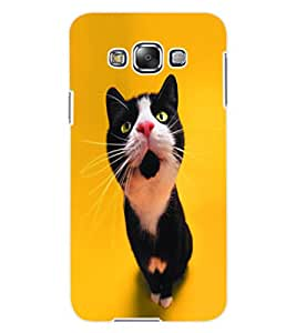 ColourCraft Cute Cat Design Back Case Cover for SAMSUNG GALAXY E7