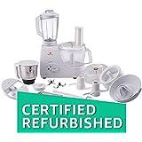 (CERTIFIED REFURBISHED) Bajaj FX7 600-Watt Food Processor (White)