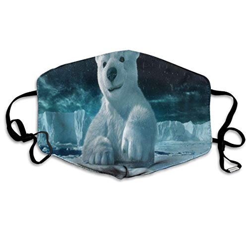 Mund Maske, Face Mask, Dustproof Anti-Bacterial Washable Cute Polar Bear Mouth Cover Mask Respirator Germ Protective Breath Healthy Safety Warm Windproof Mask