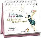 Lama Queen - Man denkt zu viel und tanzt zu wenig!: 24 Postkarten für richtig viel Spaß