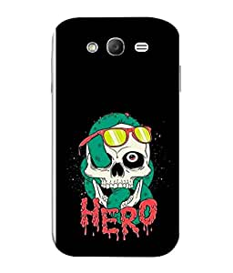 PrintVisa Designer Back Case Cover for Samsung Galaxy Grand I9082 :: Samsung Galaxy Grand Z I9082Z :: Samsung Galaxy Grand Duos I9080 I9082 (Funny Crazy Hero Design Skull Snack)