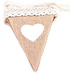 Banderines de corazones para boda