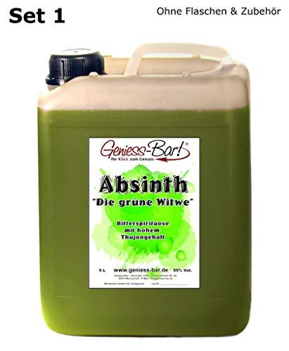 Absinth Die Grüne Witwe 5L Testurteil SEHR GUT(1,4) Mit maximal erlaubtem Thujon 35mg 55{509af41215ba8f8eff6262bab74e6dbe97cfc4c66423f45ebbca509d2601022b} Vol