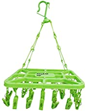 Winberg (R) 32 Clip Laundry Clothesline Hanging Rack for Drying Clothing (Colour May Vary) by Glitter Collection DHNG