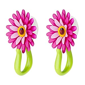 VIGAR Flower Power Gancho con Ventosa, Rosa, 8x5x12 cm, 2 Unidades, PP, Goma, PPN, PVC Friendly, Magenta y Verde…