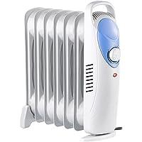 Sichler Haushaltsgeräte Ölradiator: Öl-Radiator mit 7 Rippen und Thermostat, 800 W (Elektrischer Heizkörper)