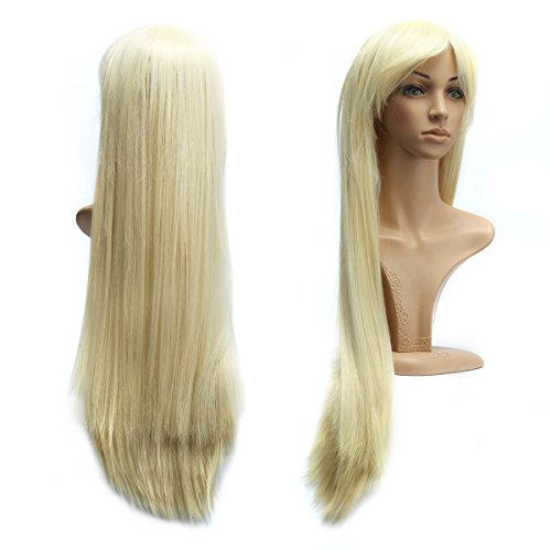 80cm Blond Cosplay Lange Gerade Perücke (Gerade Cosplay Blonde Perücke)