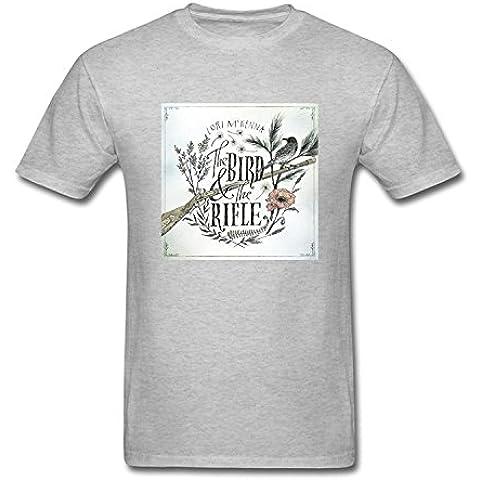 Men's Lori McKenna The Bird & The Rifle Logo T-Shirt S ColorName Short Sleeve XXXX-L