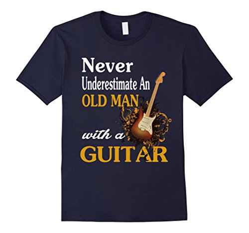 never-underestimate-an-old-man-with-a-guitar-t-shirt-herren-grosse-3xl-navy