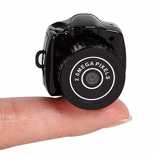 Cámara digital Mini HD 720P 2.0MP CMOS 30fps, videocámara DVR HD, más pequeña, con hendidura de TF y llavero oculto