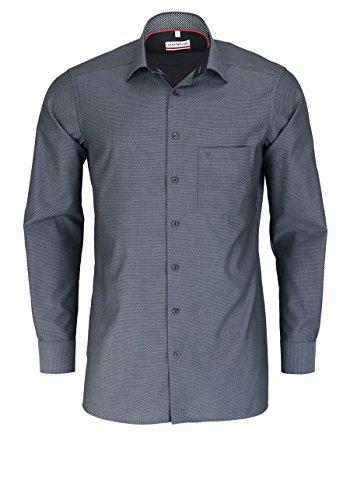 Marvelis Modern Fit Hemd Extra Langer Arm Brusttasche Muster Schwarz Größe 43
