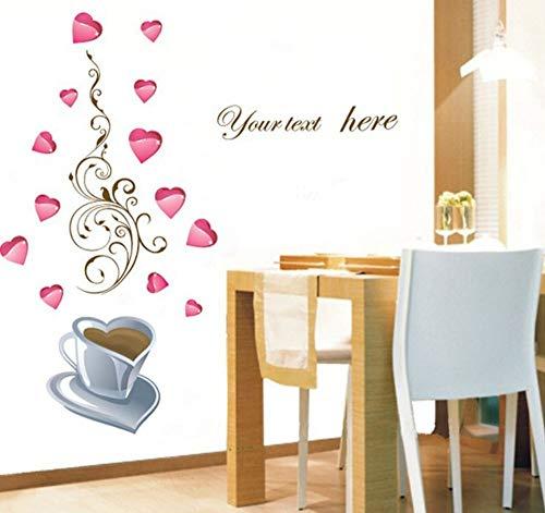 Wandaufkleber Kaffeegeschichte Kombination Wandaufkleber Glasschrank Fliesenspiegel kreative Heimat Aufkleber können entfernt werden