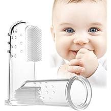 ounona 2pcs bebé cepillo de dientes Oral masajeador infantil Finger Cepillo de dientes limpieza dentición