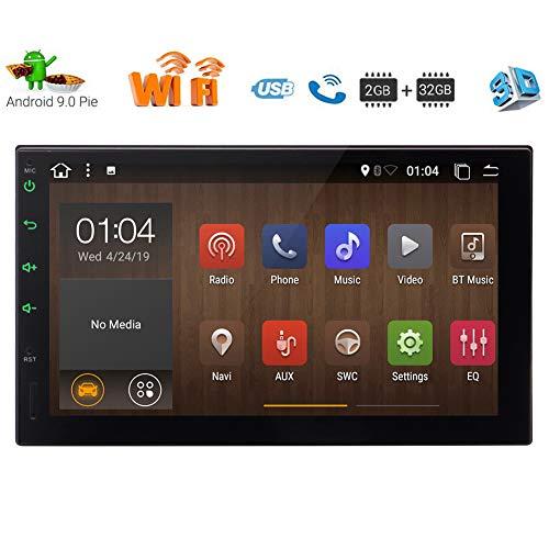 oppel-DIN-Autoradio, Doppel-DIN-Car Head Unit, Car Audio mit Bluetooth, 7-Zoll-2GB RAM 32GB ROM-Auto GPS-Navigation Head Unit, Unterstützung Fastboot, WiFi-Anschluss (NO DVD/CD ()
