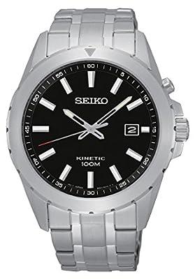 Seiko Kinetic para hombre-reloj analógico de cuarzo de acero inoxidable SKA697P1