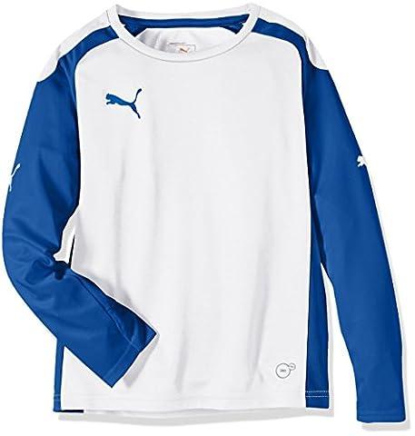 Puma Speed T-shirt à manches longues pour enfant 9-10 ans Blanc - Blanc/bleu royal