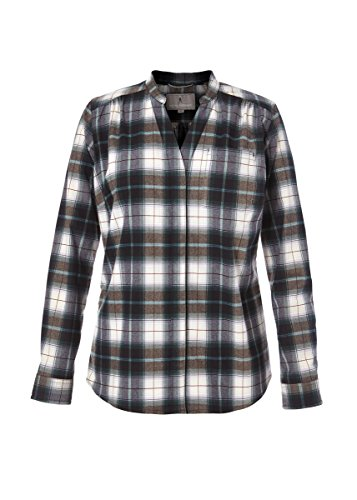 Royal Robbins Damen Merinolux Plaid Flannel Oberteil, Green Gables, XS -