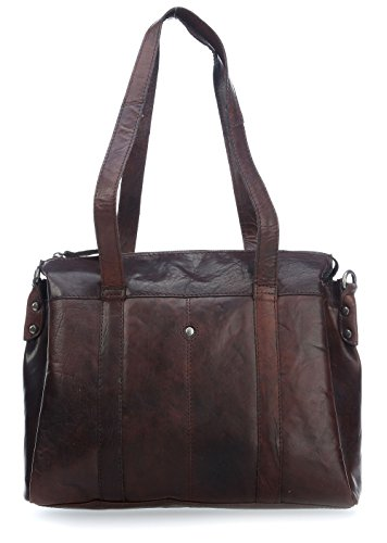 Spikes & Sparrow Bronco Aktentasche Leder 35 cm Laptopfach dark brown