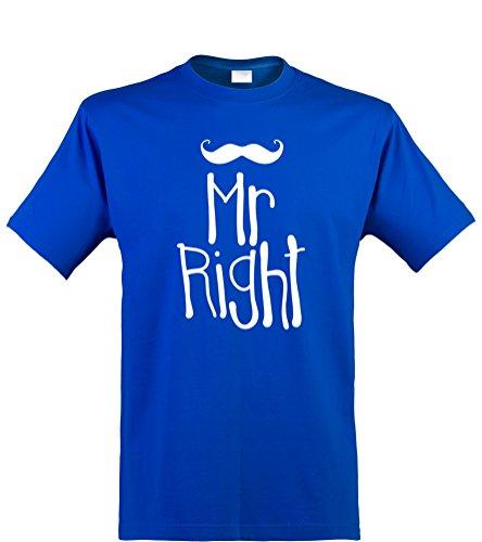 (Klamottenkiste24 Herren T-Shirt, Mr Right, Royal, Gr. XXL)