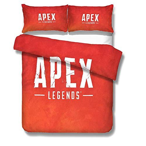 Apex Legends Gaming Funda Nórdica Conjunto Suave Edredón Cubierta De Almohada Cama Conjunto único Estampado Floral Diseño Duvet Manta Cubierta,2,King